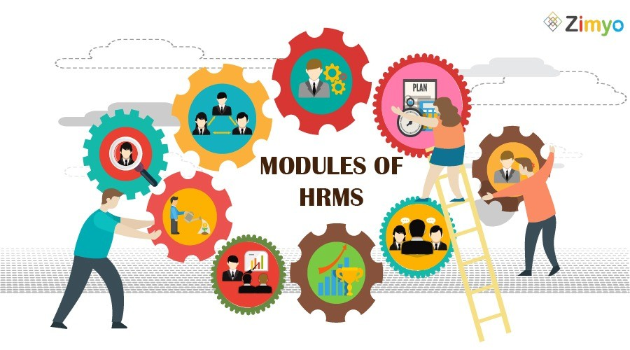 Different modules of HRMS